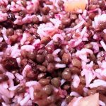 salade riz lentille chou rouge ananas